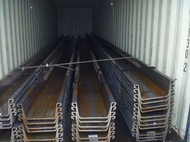 304 ton 3W Warm gewalst damwand verscheept naar de VS