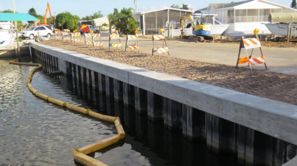 Het effect van Damwand lengte van de capaciteit van Damwand foundation